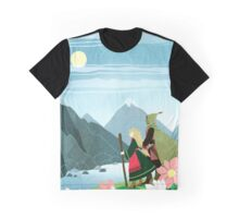 Mountain Flowers Graphic T-Shirt