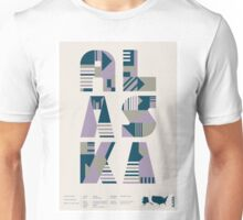 Typographic Alaska State Poster Unisex T-Shirt