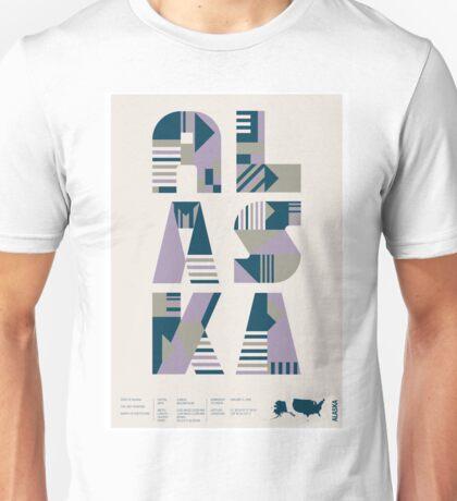 Typographic Alaska State Poster Unisex T-Shirt