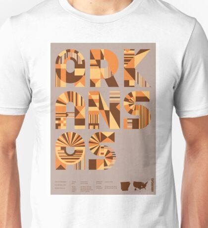 Typographic Arkansas State Poster Unisex T-Shirt