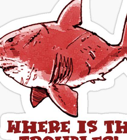 great white shark the problem solver   Sticker