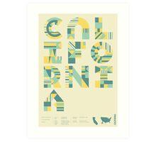 Typographic California State Poster Art Print