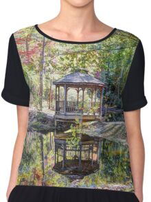 The Gazebo In The Forest Chiffon Top