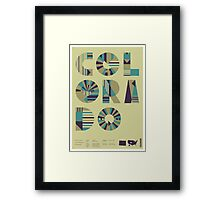 Typographic Colorado State Poster Framed Print