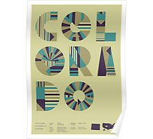 Typographic Colorado State Poster Poster