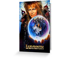 The Labyrinth enhanced edit.  Greeting Card