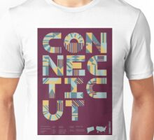 Typographic Connecticut State Poster Unisex T-Shirt