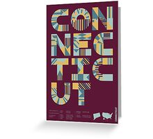 Typographic Connecticut State Poster Greeting Card