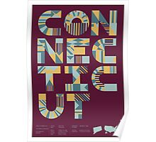 Typographic Connecticut State Poster Poster