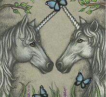 A Unicorn Greeting by TASIllustration