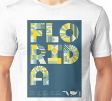 Typographic Florida State Poster Unisex T-Shirt