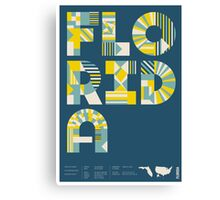 Typographic Florida State Poster Canvas Print