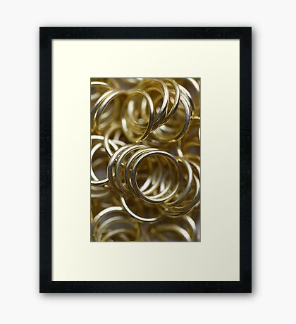 Golden Rings Framed Print