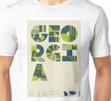 Typographic Georgia State Poster Unisex T-Shirt