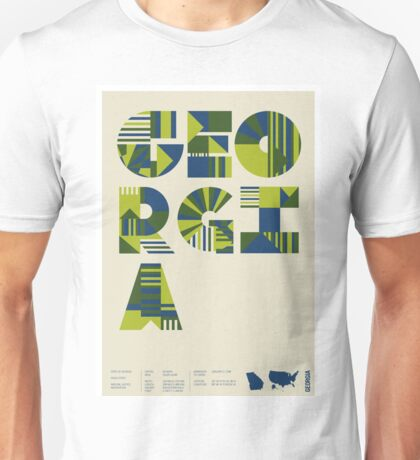 Typographic Georgia State Poster Unisex T-Shirt