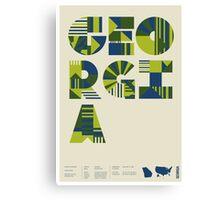 Typographic Georgia State Poster Canvas Print