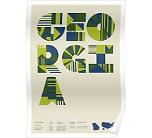 Typographic Georgia State Poster Poster