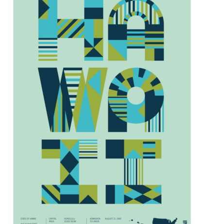 Typographic Hawaii State Poster Sticker