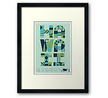 Typographic Hawaii State Poster Framed Print