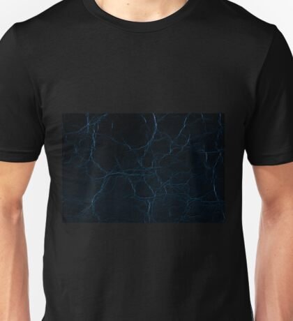 Dark blue leather texture abstract Unisex T-Shirt
