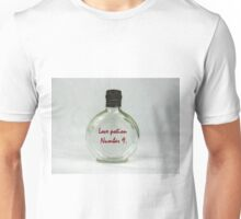 Love potion perfume in old vintage glass bottle Unisex T-Shirt