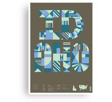 Typographic Idaho State Poster Canvas Print