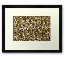 Many Golden Rings Framed Print