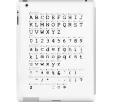 X FILES alphabet iPad Case/Skin