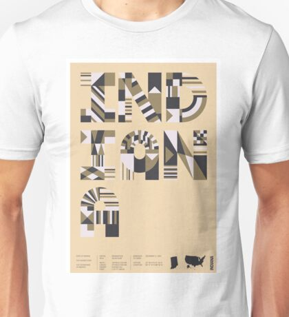 Typographic Indiana State Poster Unisex T-Shirt