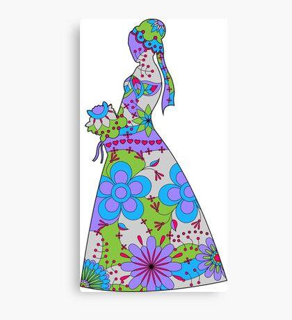 Bride colorful Canvas Print