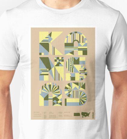 Typographic Kansas State Poster Unisex T-Shirt
