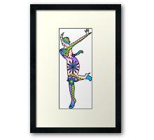 Woman dance Charlestone Framed Print