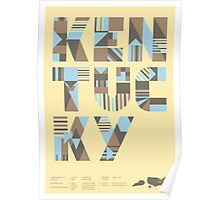 Typographic Kentucky State Poster Poster