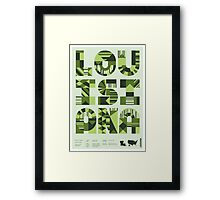 Typographic Louisiana State Poster Framed Print