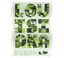 Typographic Louisiana State Poster Poster