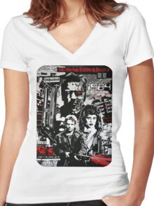 BACK Women's Fitted V-Neck T-Shirt