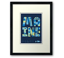 Typographic Maine State Poster Framed Print