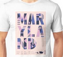 Typographic Maryland State Poster Unisex T-Shirt