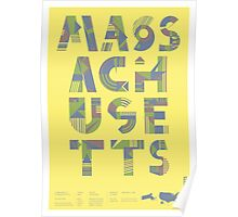 Typographic Massachusetts State Poster Poster