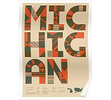 Typographic Michigan State Poster Poster