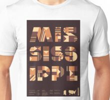 Typographic Mississippi State Poster Unisex T-Shirt