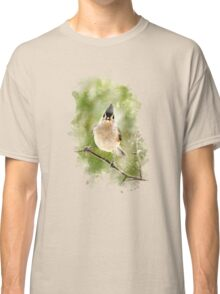 Tufted Titmouse Watercolor Classic T-Shirt