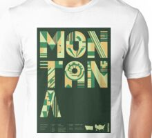 Typographic Montana State Poster Unisex T-Shirt