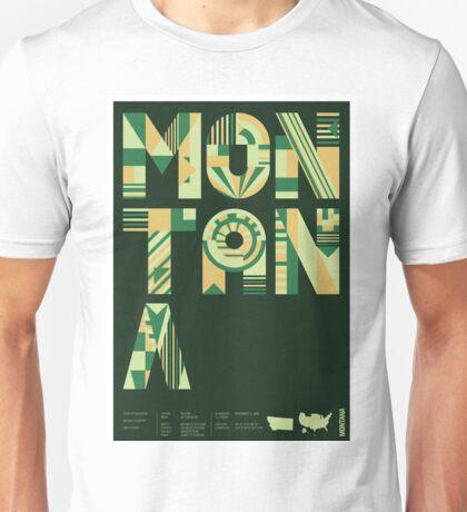 Typographic Montana State Poster Unisex T-Shirt