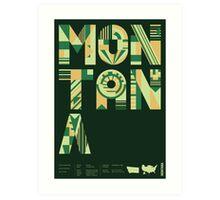 Typographic Montana State Poster Art Print