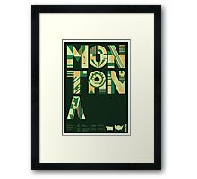 Typographic Montana State Poster Framed Print