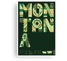 Typographic Montana State Poster Canvas Print