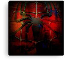 Grunge Spider Man Canvas Print