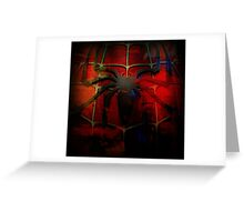 Grunge Spider Man Greeting Card