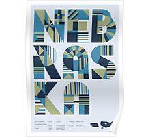 Typographic Nebraska State Poster Poster